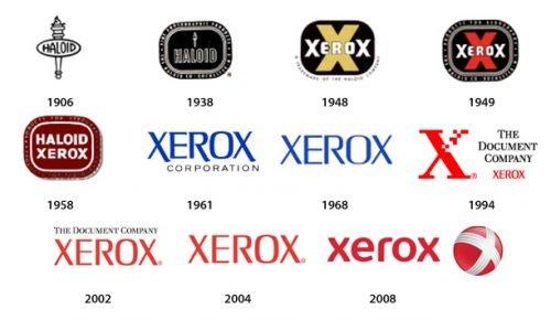 Histoire du logo Xerox