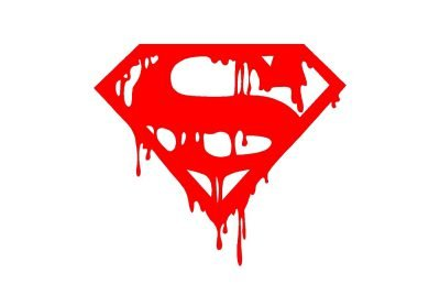 Logo Superman sanglant