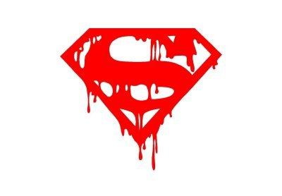 Logo Superman sanglant