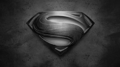 Superman logo noir