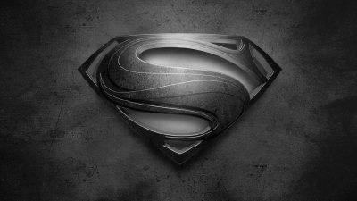 Superman logo noir