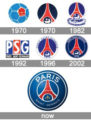 psg logo histoire et signification evolution symbole psg. Black Bedroom Furniture Sets. Home Design Ideas