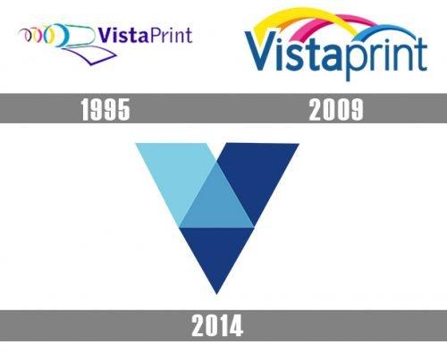 Vistaprint logo histoire