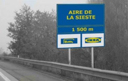 Ikea Aire de Repos Panneau - Evénementiel - IKEA ce n'est pas que des prix bas