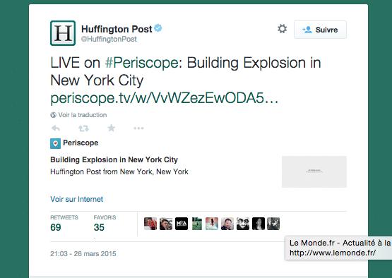 HufPost - Tweet building Explosion