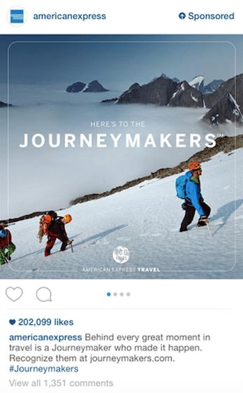 Publicité Instagram: American Express