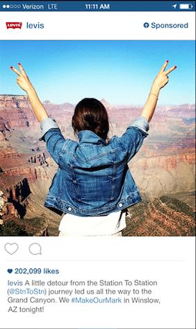 Publicité Instagram: Levi's