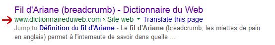 Fil d'ariane (breadcrumb)