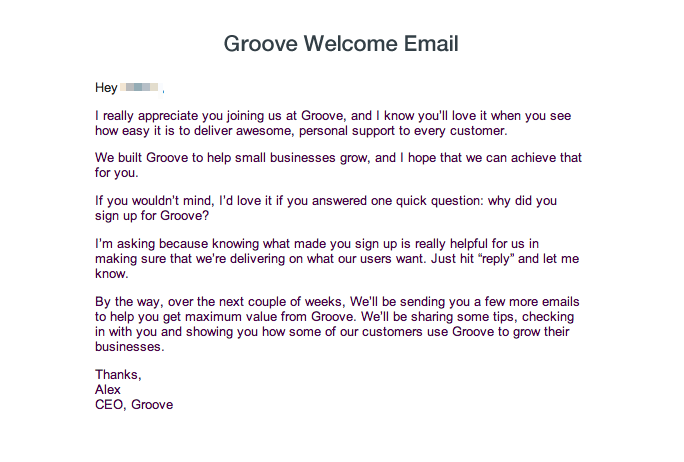 Groove email