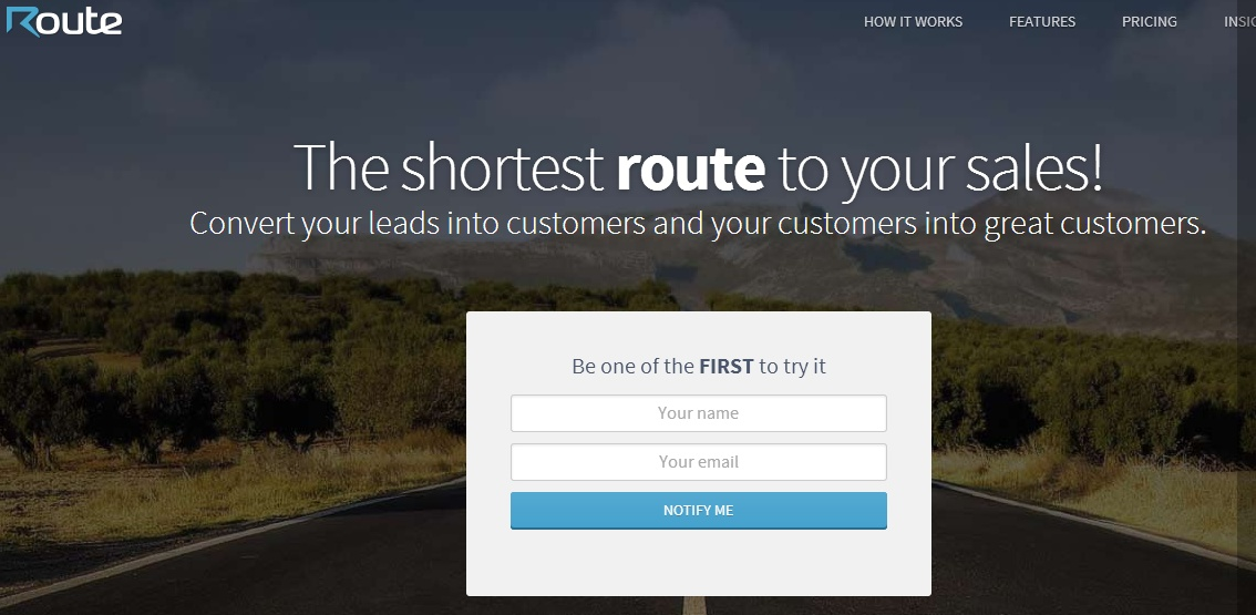 "Launch Page de ""Route"""